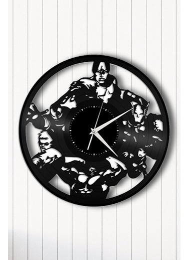 Angemiel Home Avengers Pleksi Duvar Saati Siyah